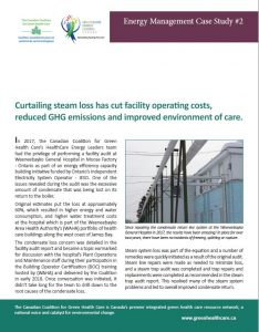 Curtailing steam loss has cut facility operating costs, reduced GHG emissions and improved environment of care.
